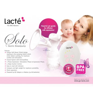 Lacte Solo Single Electric Breast Pump.