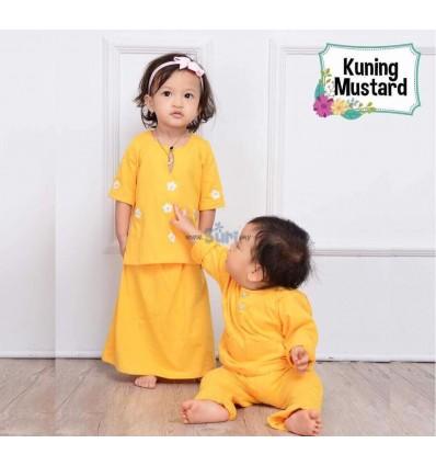MHC Baju Kurung Kedah Kuning Mustard