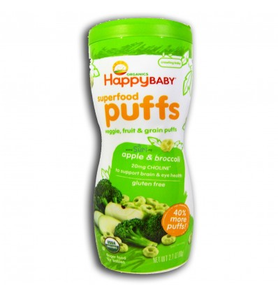 Happy Baby Superfood Puffs Aplle & Broccoli