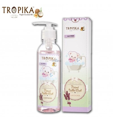 Tropika Head To Toe Natural Bubble Wash Lavender - 230ml