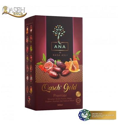 QASEH Gold Premier Perisa Asli 500ml - Pek Baru