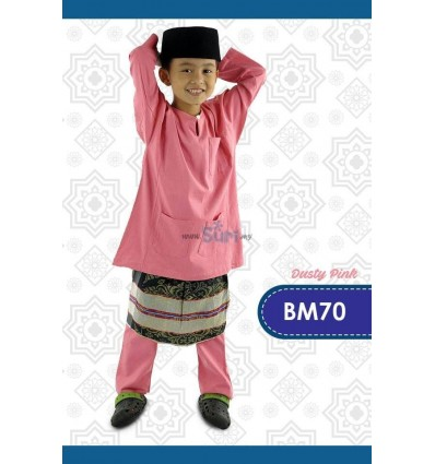 Baju Melayu BM104 - RED CHILI