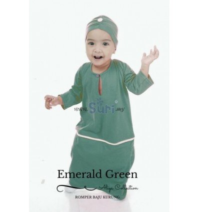 ROMPER KURUNG EMERALD GREEN
