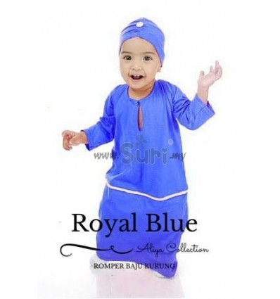 ROMPER KURUNG ROYAL BLUE
