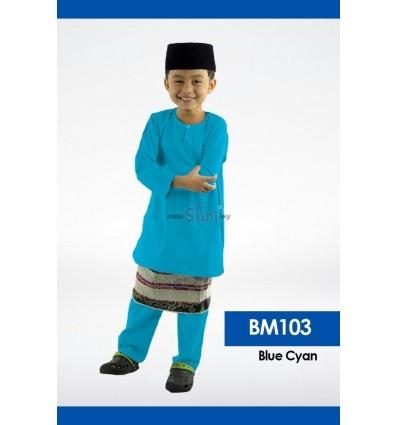 Baju Melayu BM103 - BLUE CYAN