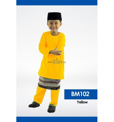 Baju Melayu BM102 - YELLOW