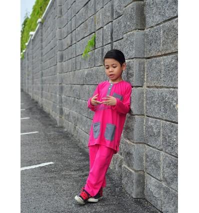 Baju Melayu 2 Tone - PINK