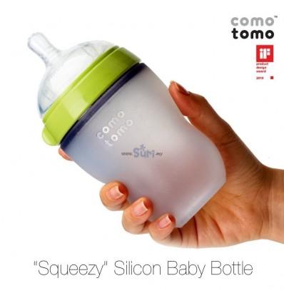 COMOTOMO Silicone Bottles 250ml Green