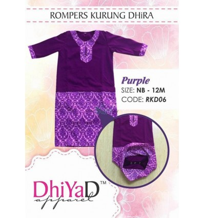 Romper Kurung Dhira Purple