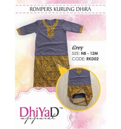 Baju Kurung Dhira Grey