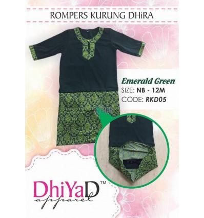 Baju Kurung Dhira Emerald Green
