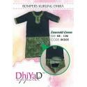 Romper Kurung Dhira Emerald Green