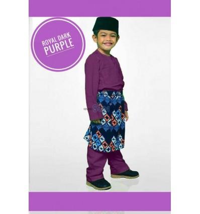 Baju Melayu Royal Dark Purple