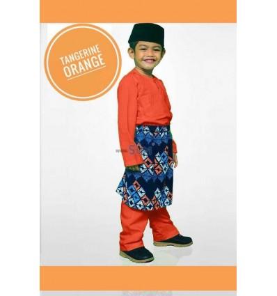 Baju Melayu Tangerine Oren