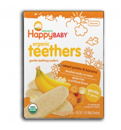 Happy Baby Organic Teethers Sweet Potato & Banana