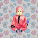 Romper Baju Melayu GMO 03- Peach