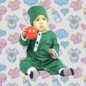 Romper Baju Melayu GMO 08- Green