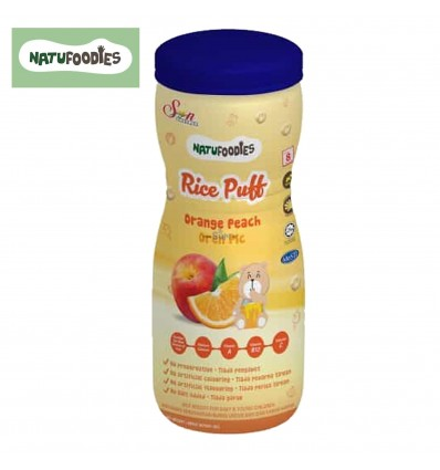 Natufoodies Rice Puff Orange Peach 60g