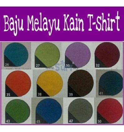 Baju Melayu Kain Tshirt BM43-Hijau Gelap